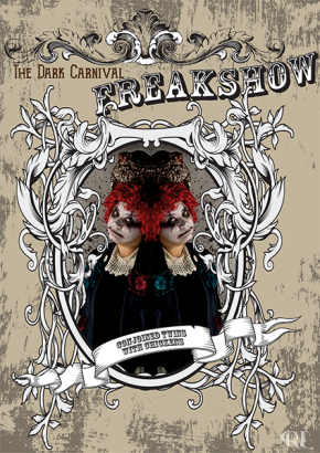 the-dark-carnival-conjoined-twins-with-chickens